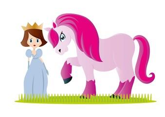 koń,księżniczka