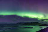 Fototapeta Northern Light Aurora borealis Jokulsarlon Glacier