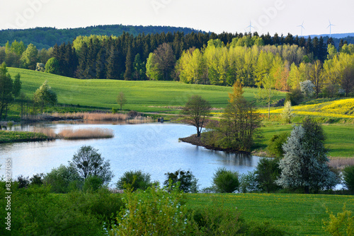 Spring landscape with lake © puchan