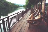 Fototapety River Kwai in Thailand
