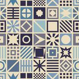 Fototapety Square seamless pattern. Geometric background.