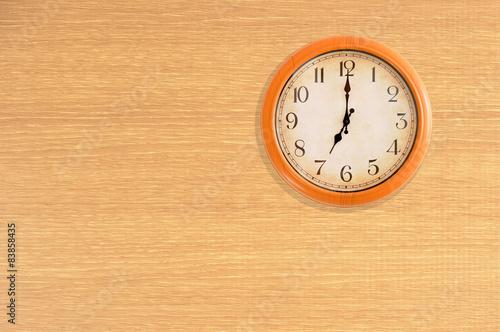Clock Showing 12 O'clock Clock Showing 7 O'clock on a