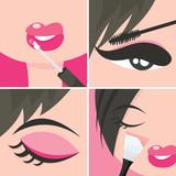 Makeup Popart poster