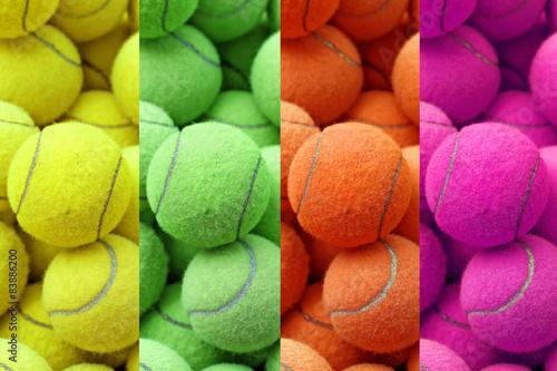Couleur exotique balle de tennis