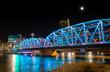 Full Moon Over Langevin Bridge in Downtown Calgary