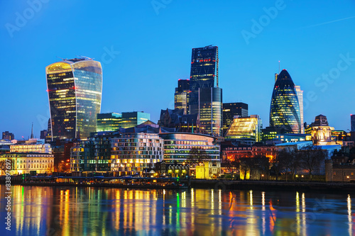 Fotobehang Londen Financial district of the City of London