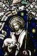 Obrazy na płótnie, fototapety, zdjęcia, fotoobrazy drukowane : Jesus Christ the Good Shepherd in stained glass