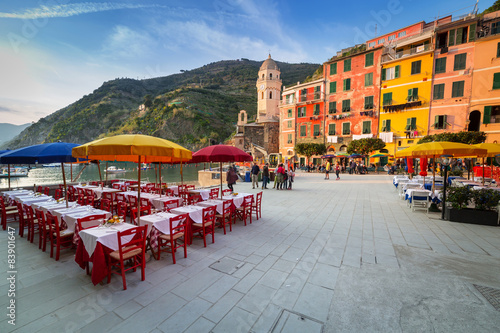 Staande foto Rome Vernazza town on the coast of Ligurian Sea, Italy