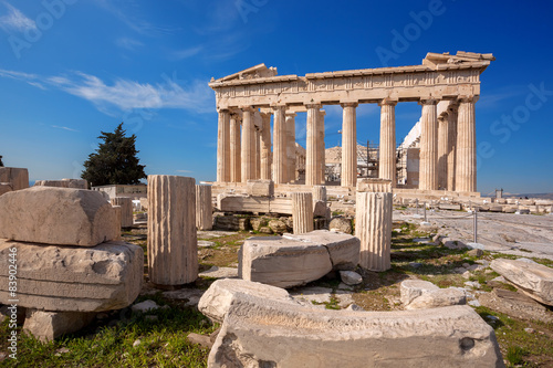 Zdjęcia na płótnie, fototapety, obrazy : Parthenon temple on the Acropolis in Athens, Greece