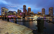 Boston Financial District at Sunset, Boston, Massachusetts
