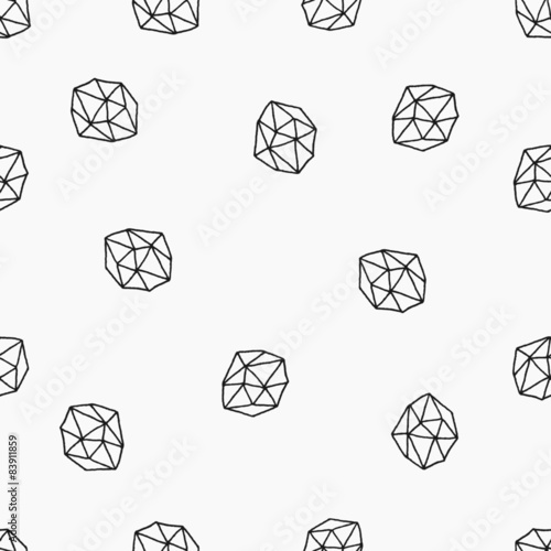 Fototapeta Abstract Polygons Seamless Pattern