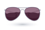 Aviator sunglasses icon fashion vector illustration.