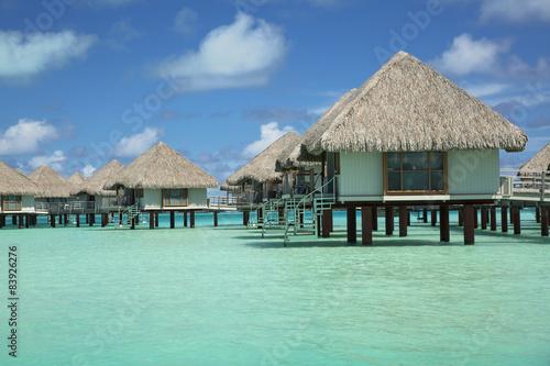 Aluminium Palm boom Vacation Huts at Bora Bora