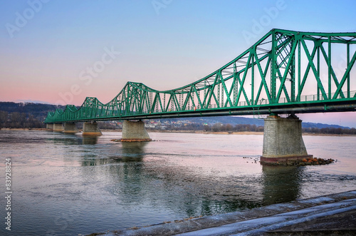 Fototapeta Bridge over Vistula River in Wloclawek
