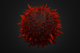 Fototapety Abstract 3d rendering of sphere with chaotic structure.