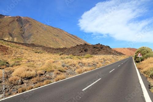 Deurstickers Canarische Eilanden Teide National Park in Tenerife