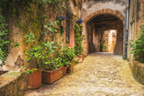 Corners of Tuscan medieval towns in Italy - 83944678