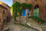 Corners of Tuscan medieval towns in Italy - 83945442