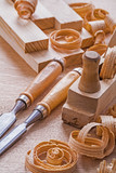 very close up view joinery tools old fashioned woodworkers plane poster