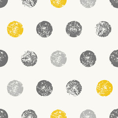 Abstract Round Shapes Seamless Pattern