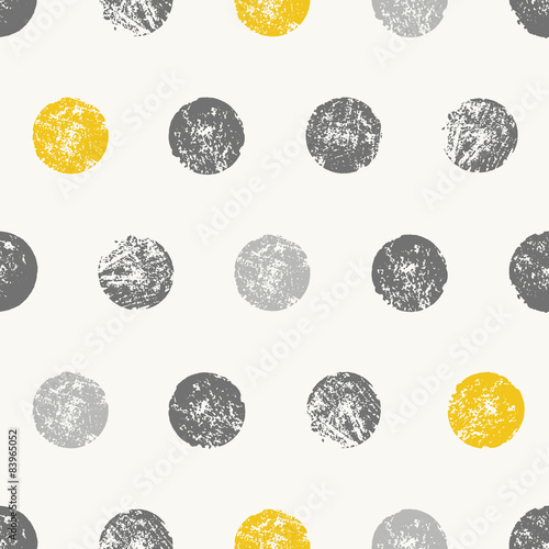 Fototapeta Abstract Round Shapes Seamless Pattern
