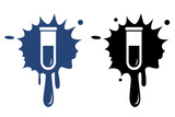 Test tube icon. Biochemistry and microbiology equipment. poster