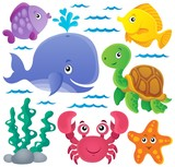 Fototapety Ocean fauna thematic collection 1