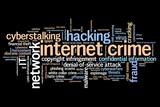 Online crime - word cloud