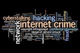 Online crime - word cloud