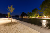 Night Landscape of Lugano lake