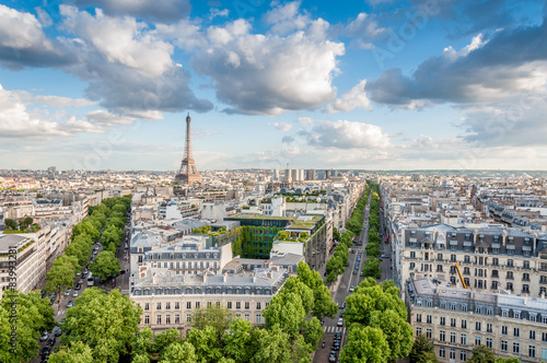 obraz PCV Vues de l'Arc de Triomphe