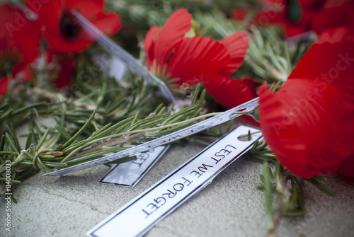 Fotobehang Klaprozen Anzac day remembrance day poppy