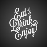 food and drink vintage lettering background 10 EPS