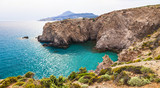 Fototapeta beautiful beaches of Greece - Fyriplaka, Milos island