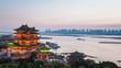 nanchang tengwang pavilion in sunset ,time lapse