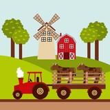Mit den kleinen Kühen durch ein Dorf