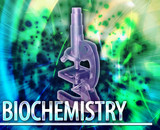 Biochemistry Abstract concept digital illustration poster