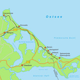 Usedom - Landkarte - 84030629