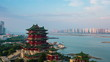 nanchang tengwang pavilion in early morning, time lapse