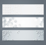 Fototapety Collection of geometric banner.