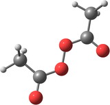 Diacetyl peroxide molecule isolated on white poster