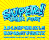 Fototapety Creative comic font. Vector alphabet in style pop art