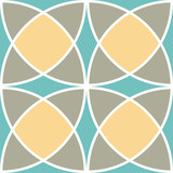 Fototapety Encaustic tiles seamless pattern. Vector EPS 10