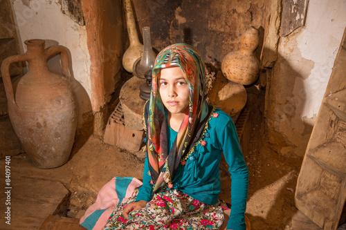 Poster Yöresel Kıyafetli Köylü Kız