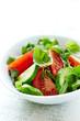 Tomato Salad with Cucumber and Arugula