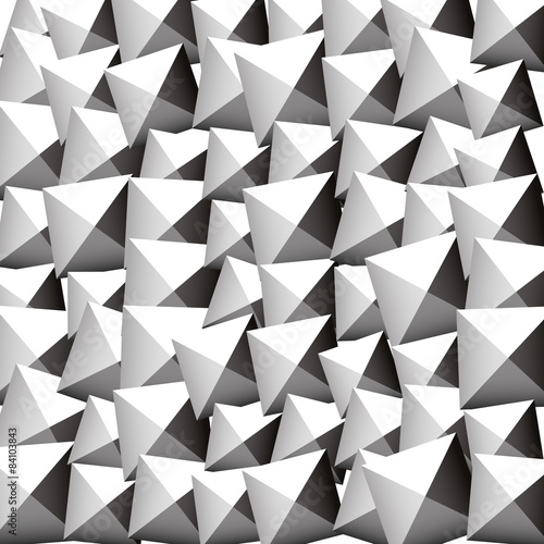 Pattern with random rotated beveled squares. Editable vector. - 84103843