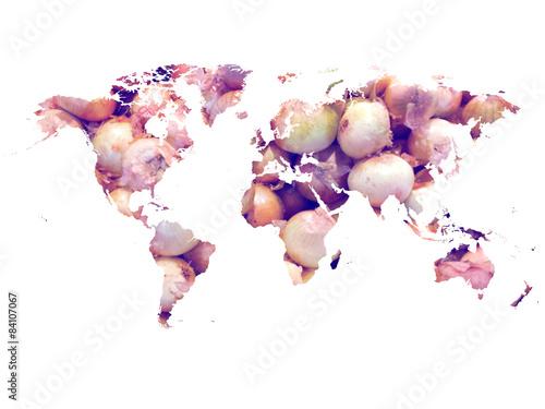 Mapamundi cebollas (world map onions) - 84107067