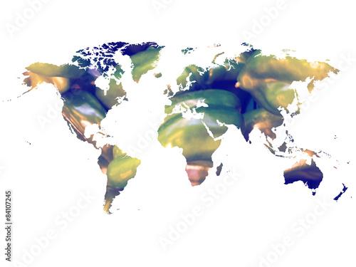 Mapamundi pimientos verdes (world map green peppers) - 84107245