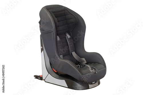 baby car seat isolated on white background buy photos ap images detailview. Black Bedroom Furniture Sets. Home Design Ideas