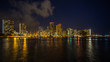 Honolulu downtown with waterfront at night, Hawaii